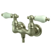 Kingston Brass Cc33T8 Wall Mount Clawfoot Tub Filler - Brushed Nickel Finish