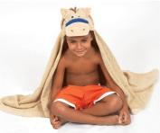 AM PM Kids 46006 Tan Pony Tubby Hooded Towel - 68.6cm . x 127cm .