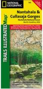 National Geographic TI00000785 Map Of Nantahala And Cullasaja Gorges - North Carolina