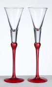 Lillian Rose G405 R Set Of Tall Flutes -Red