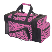 Pizzazz Performance Wear B500AP -HPK -L B500AP Zebra Megaphone Duffle Bag - Hot Pink - Large
