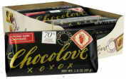 Chocolove Xoxo 20843 Strong Dark Chocolate Mini Bar