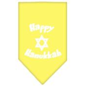 Mirage Pet Products 66-25-03 SMYW Happy Hanukkah Screen Print Bandana Yellow Small