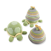Baby Aspen Turtle Toppers Baby Hat and Turtle Plush Gift Set