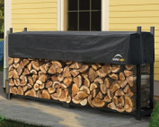 ShelterLogic 90475 8 ft. - 24 m Ultra Duty Firewood Rack with Cover