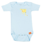 Uh-oh Industries ML20236LB The Messy Line - Light Blue A-B-Oop Cs 3-6 month onesie
