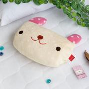 Blancho Bedding TB-BLK017-RABBIT-37by51.2 Pink Rabbit Fleece Throw Blanket Pillow Cushion / Travel Pillow Blanket