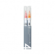 Zig RB60004V-D Zig Clean Colour Real Brush Markers 4-Pkg-Deep
