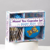 Rite Lite KWMT-5-B Mazel Tov Boy Cupcake Set Includes Cupcake Holders and Toppers