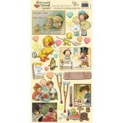 Heartwarming Vintage Cardstock Stickers 15cm x 30cm Sheet-Feel Better