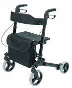 BRIGGS HEALTHCARE 501-5012-0200 HealthSmart Gateway Aluminum Rollator-Black - Brown Box