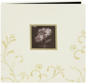 Pioneer MB10CES-W Scroll Embroidery Fabric Postbound Album With Window 30cm x 30cm