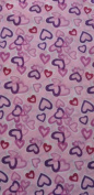 O3 O3MFHK044 O3 Kids Rag Tops Convertible Headwear - Purple Hearts