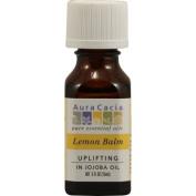 Aura Cacia Lemon Balm in jojoba oil 0.5 fl. oz. Bottle 191237
