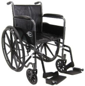 Karman Healthcare KN-800NT Standard Wheelchair-Silver Vein