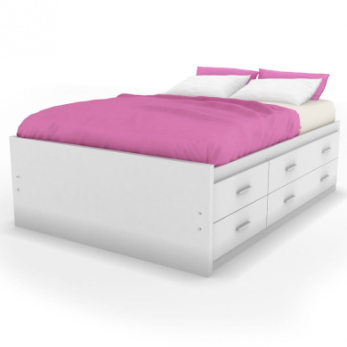 Sonax d 111 lwb willow double captains storage bed with 12 - White twin captains bed with drawers ...