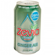 Zevia 35646 Natural Ginger Ale Diet Soda