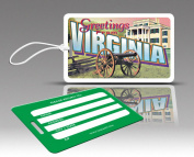 Insight Design 770799 TagCrazy Luggage Tags- Virginia- Set of Three