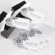 Hortense B. Hewitt 30342 White Vintage Floral Favor Cards