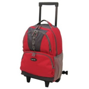 Luggage America RP-1006-RD Sports Plus 18 Rolling Backpack - Red