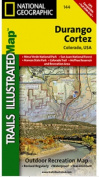 National Geographic TI00000144 Map Of Durango-Cortez - Colorado