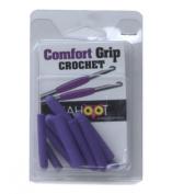 Comfort Grip Crochet Hook 10/Pkg - Assorted Colours (one colour per package) Multi-Coloured