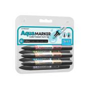 Letraset 494601 Letraset Aqua Marker Twin-Tip 6-Pkg-