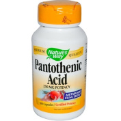 Natures Way 0816389 Pantothenic Acid - 250 mg - 100 Capsules