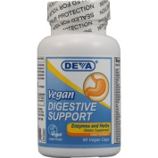 Deva Nutrition - Vegan Digestive Support Enzymes and Herbs High Potency - 90 Vegetarian Capsules