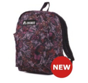Everest 38cm Butterfly Pattern Printed Backpack