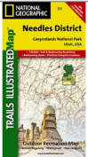 National Geographic TI00000311 Map Of Canyonlands - Needles District - Utah