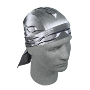 Zan Headgear Z355 Flydanna 100 Percent Cotton Tank Flame Silver