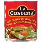 La Costena B75307 La Costena Whole Green Pickled Jalapeno Peppers -12x26 Oz