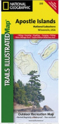National Geographic TI00000235 Map Of Apostle Isles National Lakeshore - Wisconsin