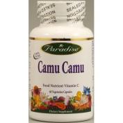Paradise Herbs Camu 20% Vitamin C Vegetarian Capsules, 60 Count
