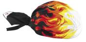 ZANheadgear Flydanna 100 Percentage Cotton Airbrushed Flames Road Hog Bandanna