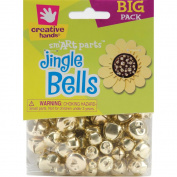 Fibre Craft 72-Pack Jingle Bells, 6mm-16mm, Gold