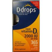 Ddrops 1072909 D Drops Liquid Vitamin D3 - 2000 IU - 0.34 fl oz