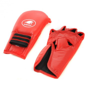 Lion Martial Arts MMA4213-22 Grappling Glove Pair - Medium Red