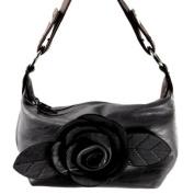 Alexis Fashion 2093 GREY 8.5L x 2W x 5H Leather Handbag - Grey