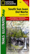 National Geographic TI00000142 Map Of South San Juan-Del Norte - Colorado