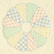 Jack Dempsey 417161 Stamped Ecru Quilt Blocks 18 in. x 18 in. 6-Pkg-Interlocking Dresden Circle