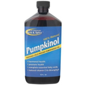 North American Herb & Spice 0989475 Pumpkinol Fortified Cold Pressed Pumpkin Oil - 12 fl oz