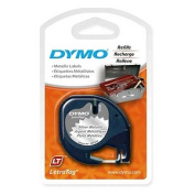 Dymo LetraTag 91338 Metallic Tape 0.5 Inch x 13 1 Roll Label Tape Cartridge