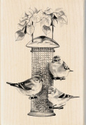 Inkadinkado 469861 Inkadinkado Mounted Rubber Stamp-Birds Feeder