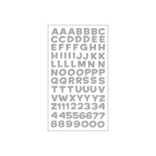 Sticko Alphabet Stickers-Fun House Silver Metallic