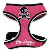 Hip Doggie HD-6PSH-L Large Pink Skull Mesh Harness Vest
