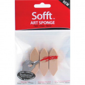 Armadillo Art& Craft 461087 Sofft Art Sponge 3-Pkg-Pointed Bar