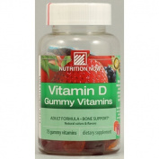 Nutrition Now 0952341 Vitamin D Gummy Vitamins - 75 Gummies