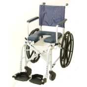 Invacare 6795 Mariner Rehab Shower Commode Chair - Treaded Urethane Tyres with 41cm Seat